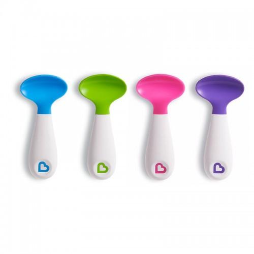 美国 Munchkin满趣健 儿童辅食训练勺(粉*紫) 2支/盒【保税仓】