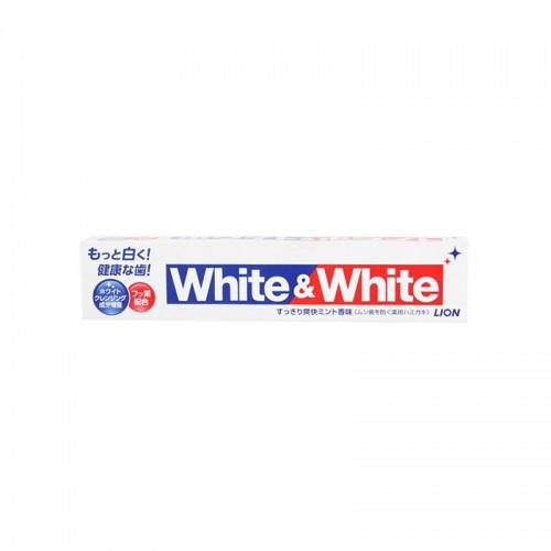 【促销】【2支装】日本本土版 LION狮王 成人WHITE&WHITE含氟大白管牙膏 150g【江阴保税仓】