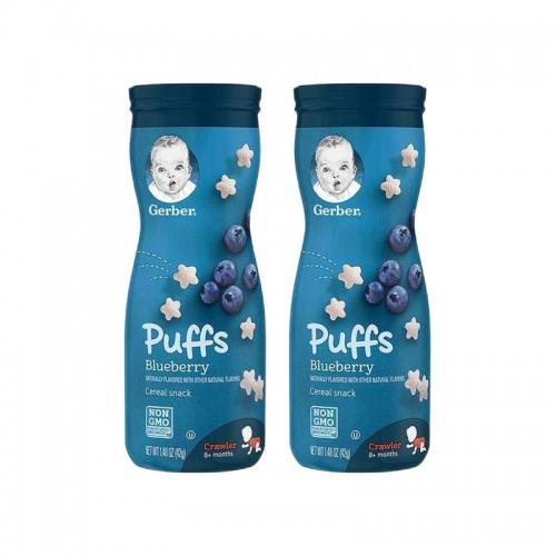 【2瓶装】美国 GERBER嘉宝 星星泡芙 蓝莓口味 3段 8个月以上 42g/罐【保税仓】