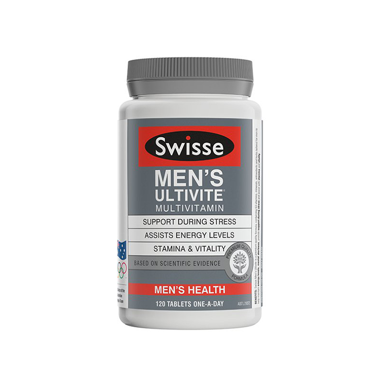 澳洲 Swisse 男性维生素 提高活力 舒缓压力 120粒 【保税仓】