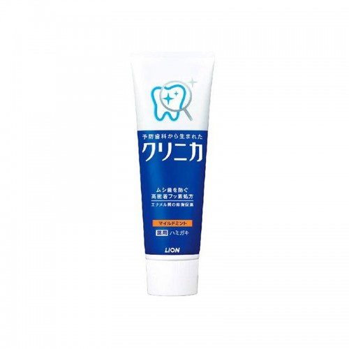 日本 LION狮王 酵素去牙渍口臭 橙条 温和薄荷型牙膏 130g【江阴保税仓】