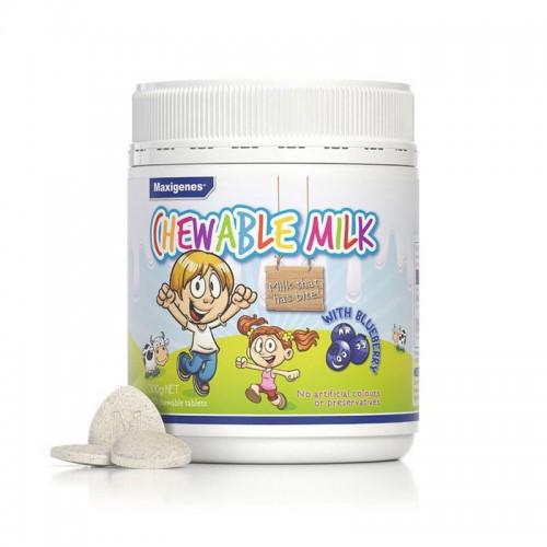 澳洲 美可卓Maxigenes 儿童护眼片Chewable Milk奶片150粒 300g【保税仓】