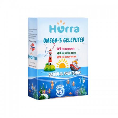挪威 Hurra DHA儿童深海鱼油软糖咀嚼片 45粒【保税仓】