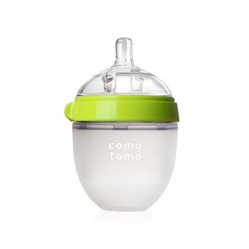 美国 可么多么Comotomo 防胀气全硅胶奶瓶 粉/绿色 150ml【保税仓】