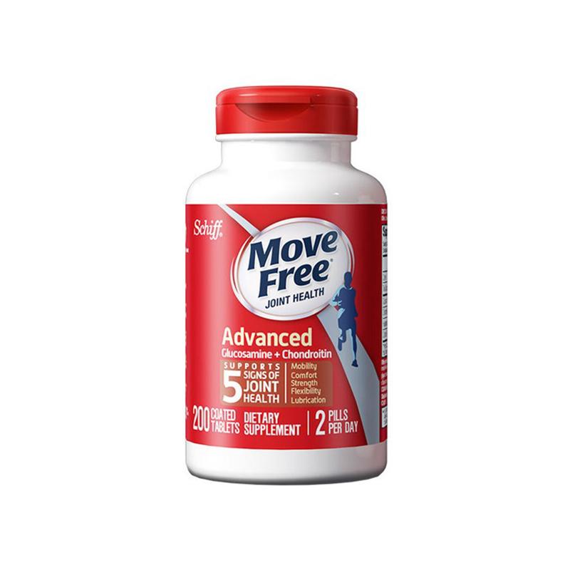 美国 MoveFree(Schiff)维骨力红瓶 200粒【保税仓】
