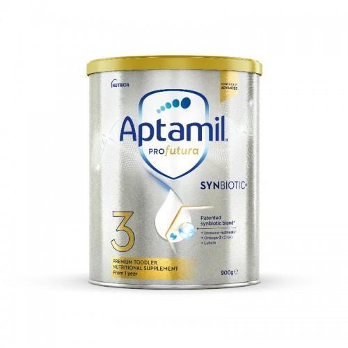 新西兰 爱他美Aptamil 白金版婴儿配方牛奶粉3段 一周岁及以上 900g/罐【保税仓】